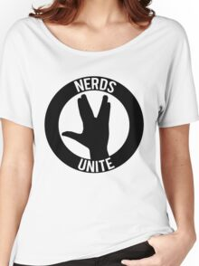 NERDS UNITE - VULCAN SALUTE Women's Relaxed Fit T-Shirt