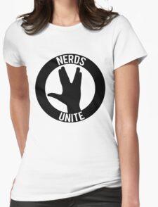 NERDS UNITE - VULCAN SALUTE Womens Fitted T-Shirt