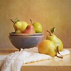Pears and Bowls by Colleen Farrell