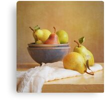 Pears and Bowls Canvas Print