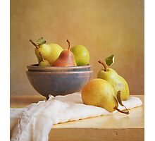Pears and Bowls Photographic Print
