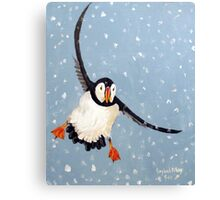 """Playful Puffin"" Canvas Print"