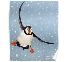 """""""Playful Puffin"""" Poster"""