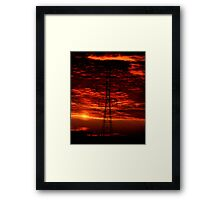 Sunset Behind the Dynamo Framed Print