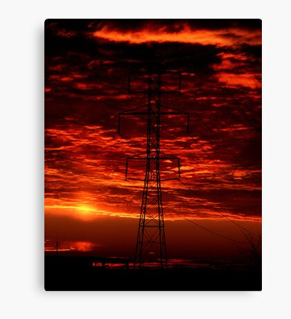 Sunset Behind the Dynamo Canvas Print