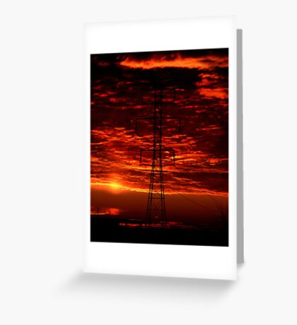 Sunset Behind the Dynamo Greeting Card