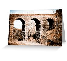 Spanning The Divide Greeting Card
