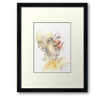 The clown or an invisible reality Framed Print