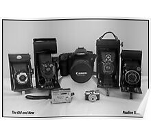 CAMERAS OLD AND NEW Poster