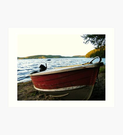 Boat at Lac La Blanche, Quebec Art Print