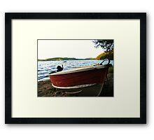 Boat at Lac La Blanche, Quebec Framed Print