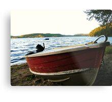 Boat at Lac La Blanche, Quebec Metal Print