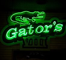 Gators logos and neon sign by Vincent von Frese