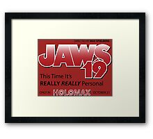 Jaws 19 - Back to the Future Framed Print