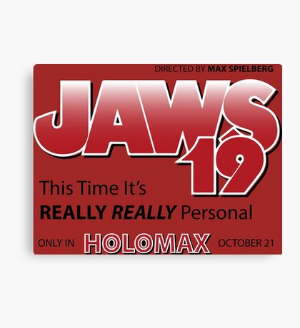 Jaws 19 - Back to the Future Canvas Print