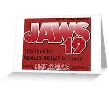 Jaws 19 - Back to the Future Greeting Card