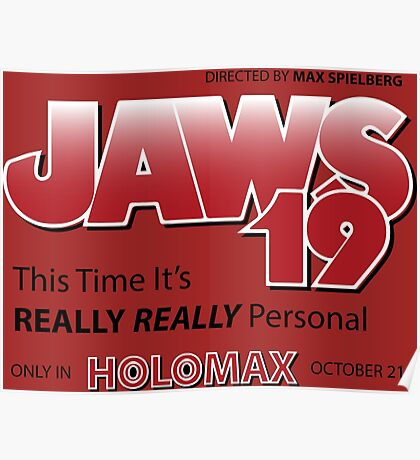 Jaws 19 - Back to the Future Poster