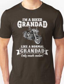 Biker Grandad , Like normal Grandad , Only Cooler Art . T Shirt Hoodies . T-Shirt