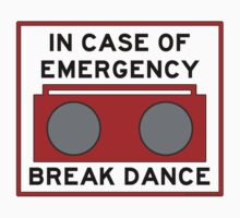 In Case Of Emergency Break Dance (light shirts) Kids Tee