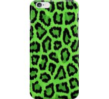 Green Leopard Animal Print iPhone Case/Skin