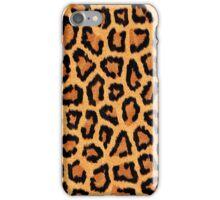 Orange Leopard Print iPhone Case/Skin