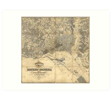 Topographical Map of the District of Columbia (1861) Art Print