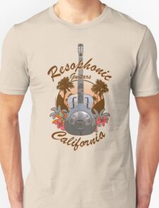 Resophonic Guitar - California (brown) Unisex T-Shirt