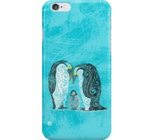 Swirly Penguin Family iPhone Case/Skin