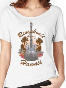Resophonic Guitar - Hawaii (brown)  Women's Relaxed Fit T-Shirt
