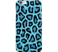 Blue Leopard Animal Print iPhone Case/Skin
