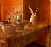 Apothecary Bottles HMS Victory by Terri Waters
