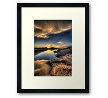 Straight On To Sunset Framed Print