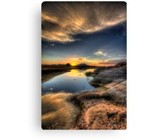 Straight On To Sunset Canvas Print