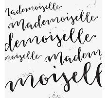 Mademoiselle Photographic Print