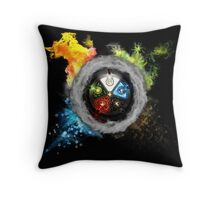 Magic the Gathering: Elemental  Battle Throw Pillow