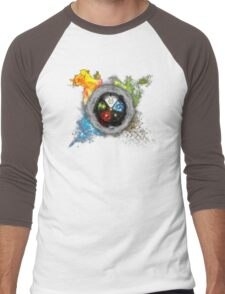 Elemental  Battle Men's Baseball ¾ T-Shirt