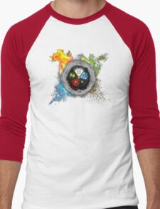 Magic the Gathering: Elemental  Battle Men's Baseball ¾ T-Shirt