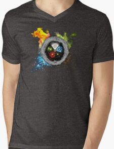 Magic the Gathering: Elemental  Battle Mens V-Neck T-Shirt