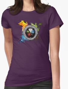 Magic the Gathering: Elemental  Battle Womens Fitted T-Shirt