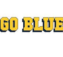 Go Blue University of Michigan by Jason Levin