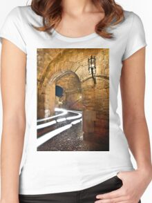 Medieval Traffic - Rhodes island Women's Fitted Scoop T-Shirt
