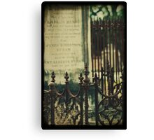 ~whispering from the grave~ Canvas Print