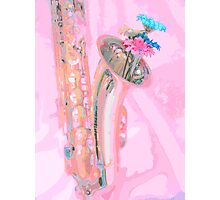 Flowering Saxaphone Photographic Print