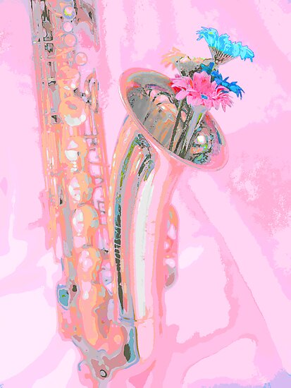 Flowering Saxaphone by Louise Godwin
