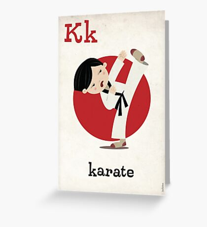 K is for Karate Greeting Card