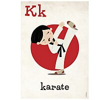 K is for Karate Photographic Print