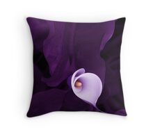 Lily in purple Throw Pillow
