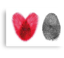 Fingerprint heart Canvas Print