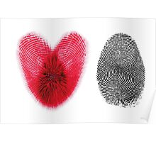 Fingerprint heart Poster