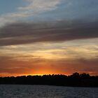 sunset over toukley lake by jane walsh